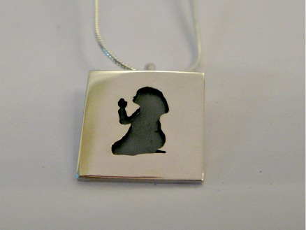 Girl praying pendent