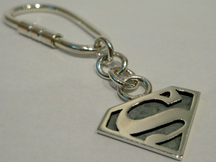 Silver superman keyring