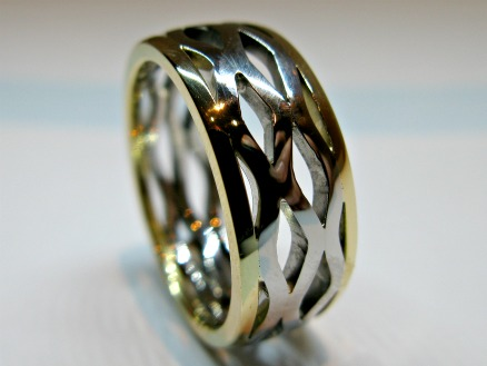 2 tone wave ring