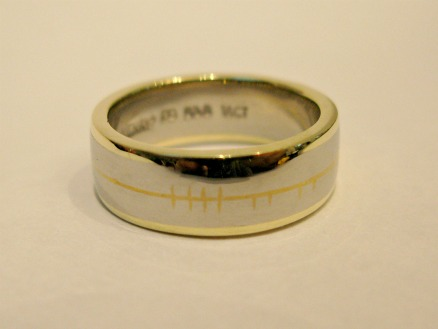 by ireland large with trims celtic staic yellow gold rings narrow white pages de dingle jewelry writing ring wedding inscribed ogham brian